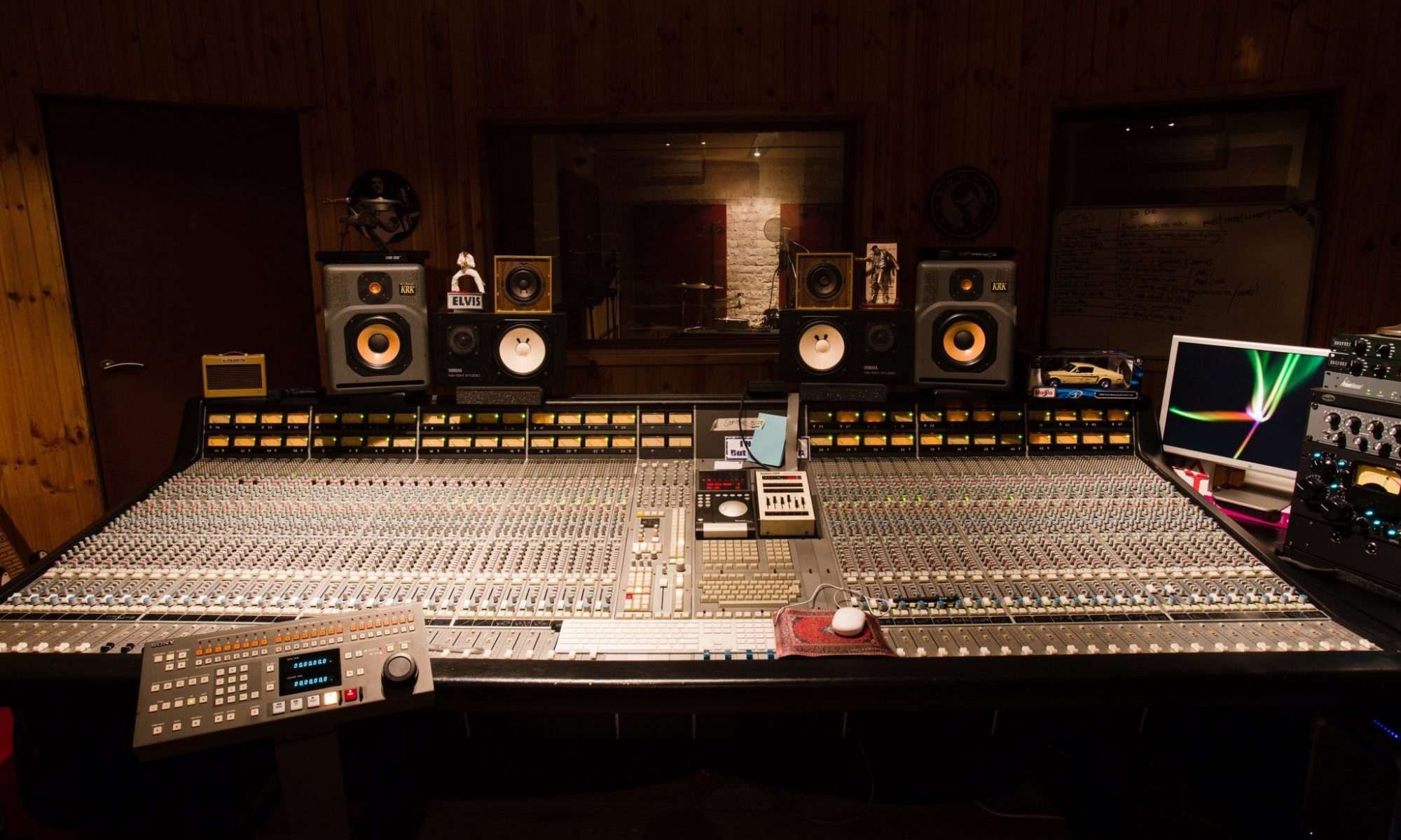 Photo taken by Andy Lund of custom SSL 8056 G+ console at Bellville Studios, Western Cape, South Africa